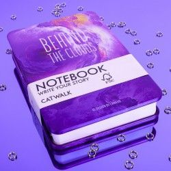 Metal Notebook Violet Sky